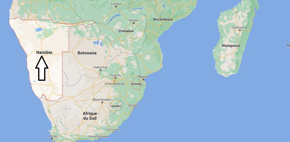 Où est situé la Namibie