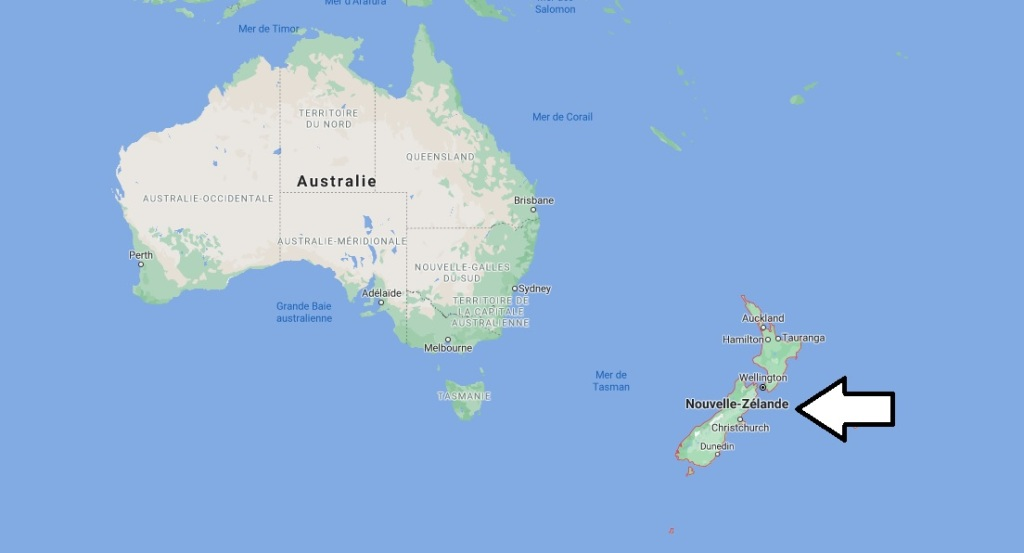 Où est situé la Nouvelle-zélande