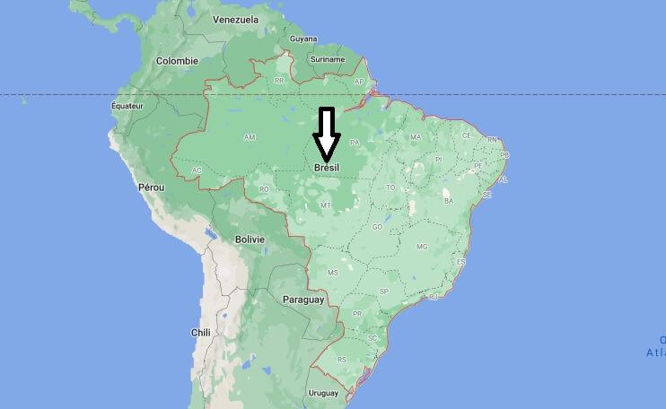 Où est situé le Brésil