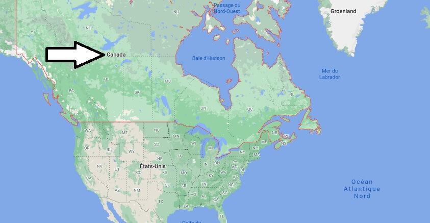 Où est situé le Canada