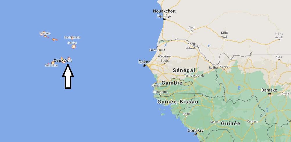 Où est situé le Cap Vert