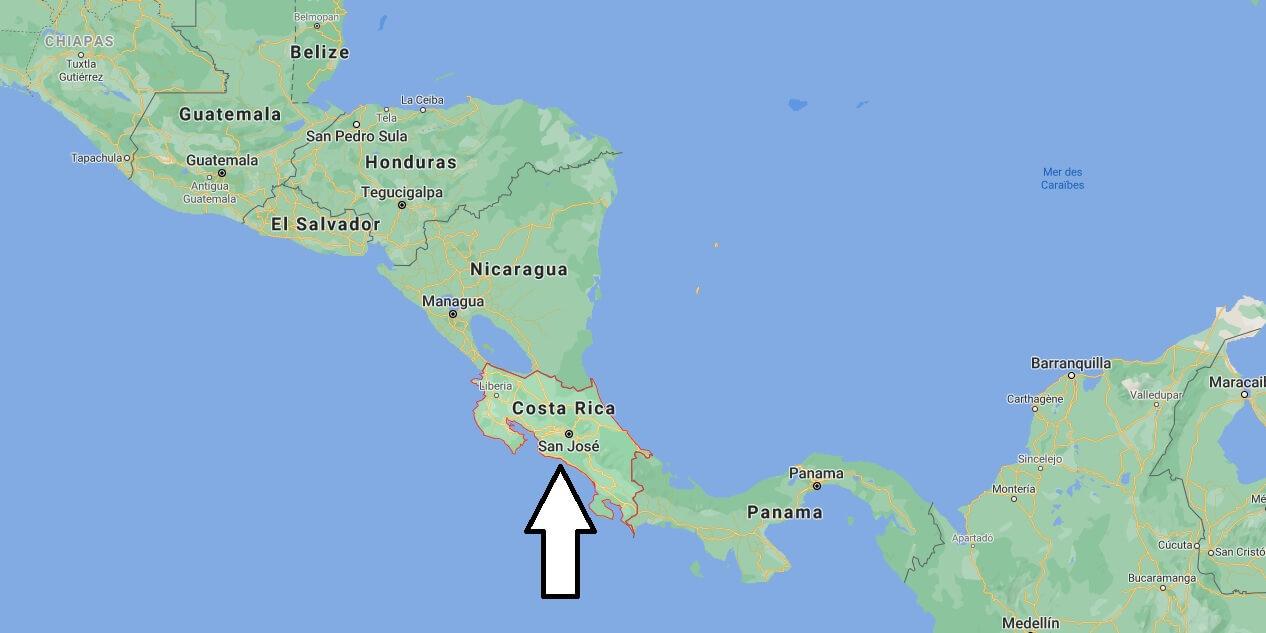 Où est situé le Costa Rica