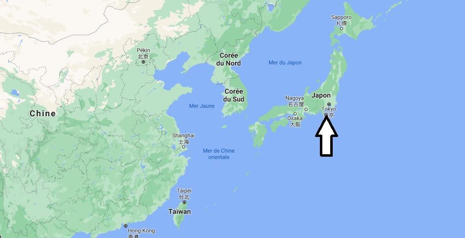 Où est situé le Japon