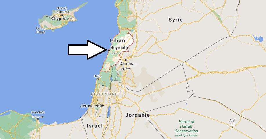 Où est situé le Liban