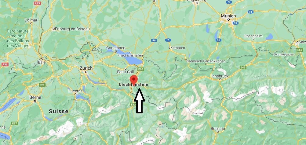 Où est situé le Liechtenstein
