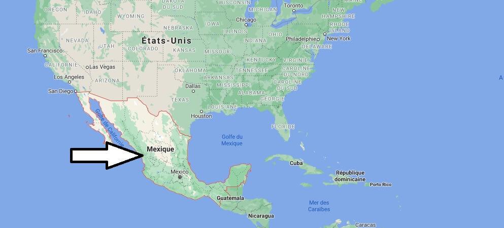 Où est situé le Mexique
