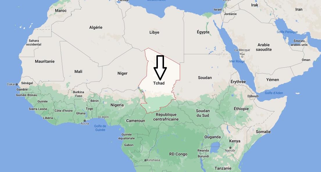 Où est situé le Tchad