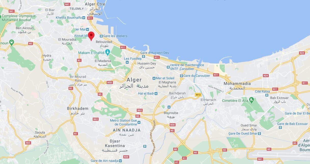 Où se situe Alger