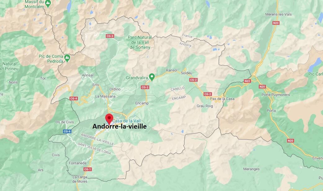 Où se situe Andorre-la-vieille