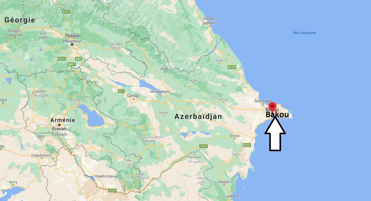 Où se situe Bakou