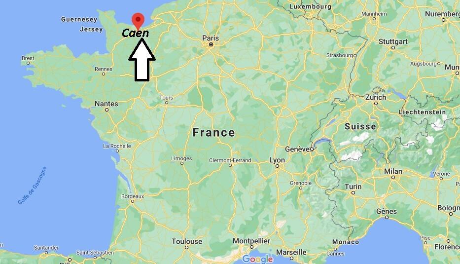 Où se situe Caen