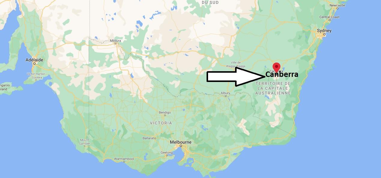 Où se situe Canberra