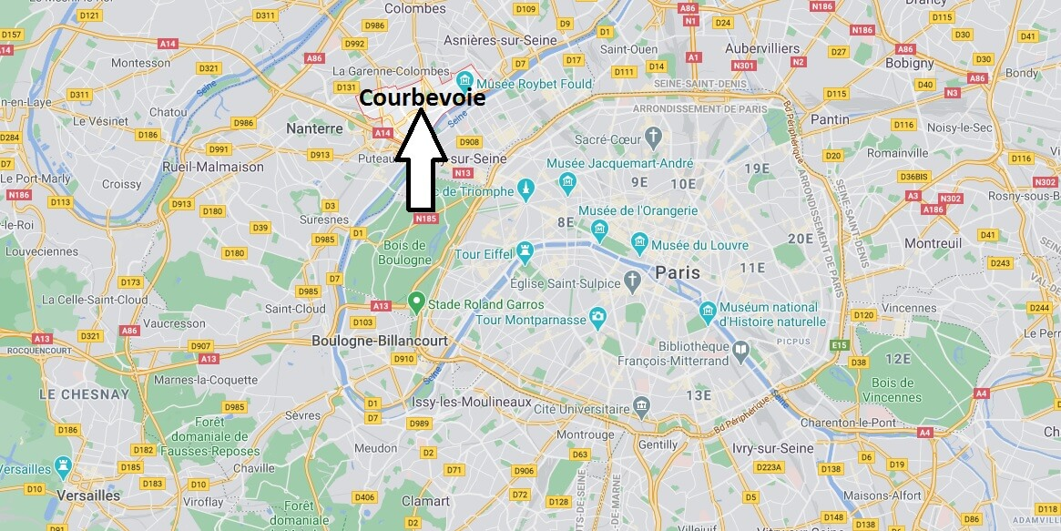 Où se situe Courbevoie (Code postal 92400)