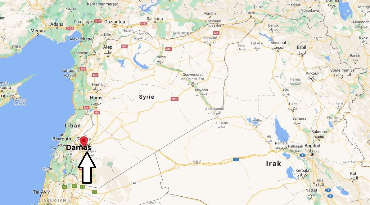 Où se situe Damas