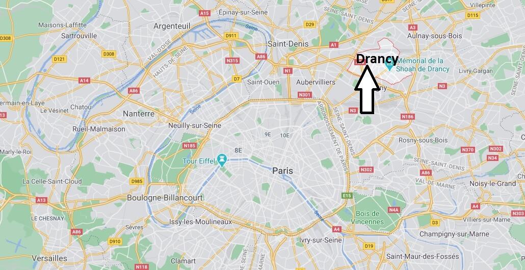 Où se situe Drancy (Code postal 93700)