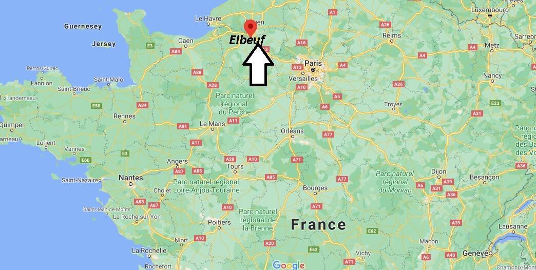 Où se situe Elbeuf (Code postal 76231)
