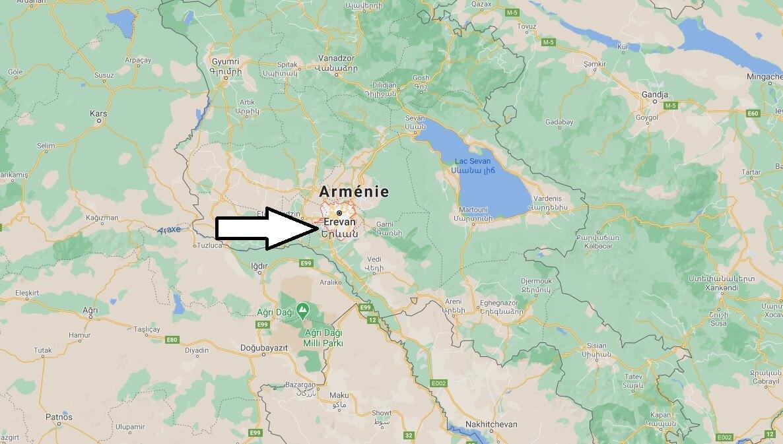 Où se situe Erevan