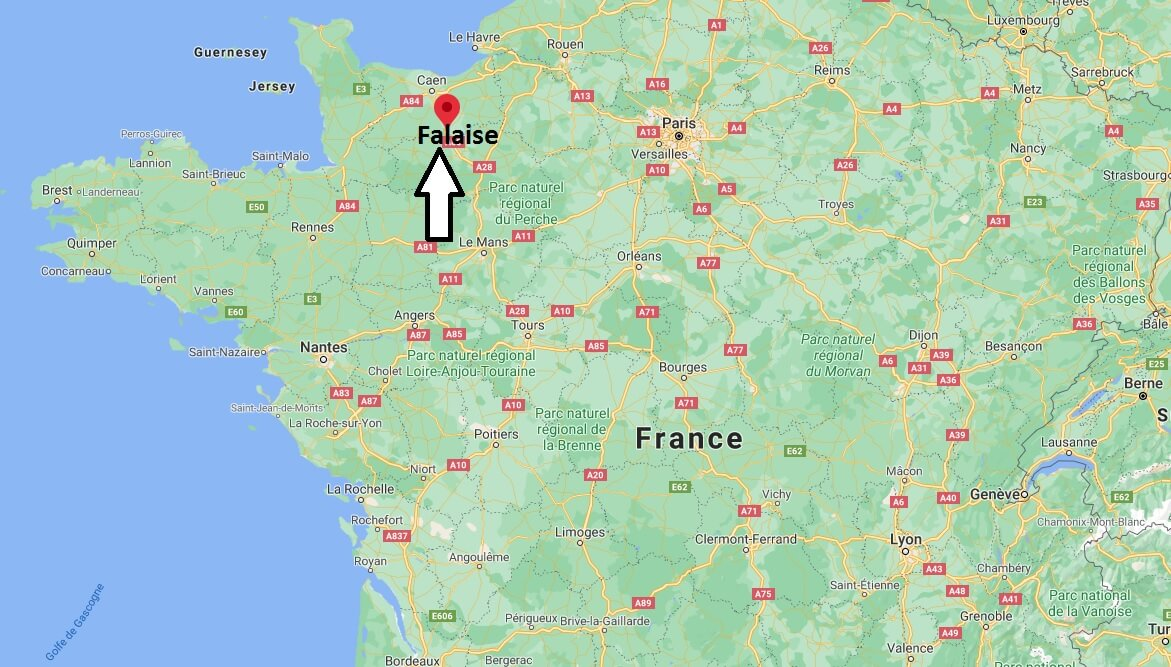 Où se situe Falaise