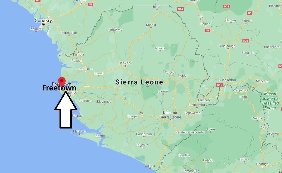 Où se situe Freetown