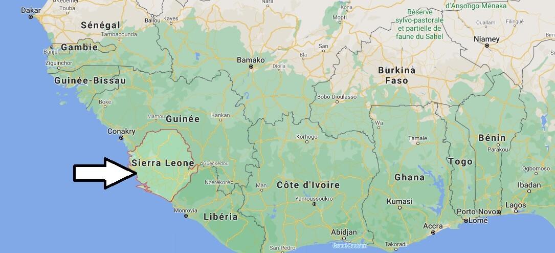 Où se situe La Sierra Leone