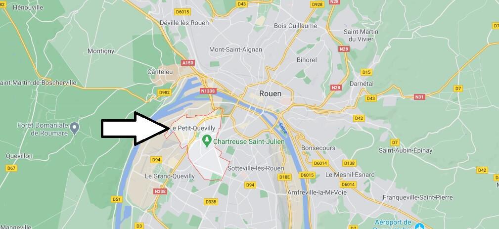 Où se situe Le Petit-Quevilly (Code postal 76140)