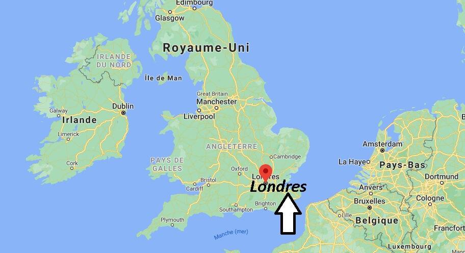 Où se situe Londres