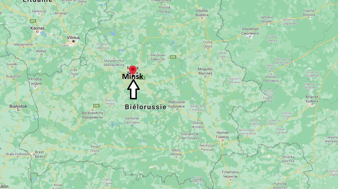 Où se situe Minsk