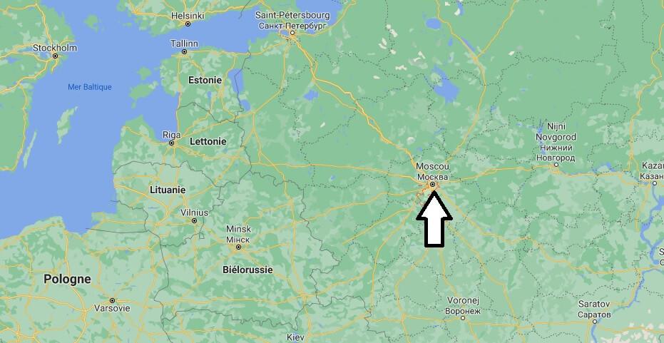 Où se situe Moscou