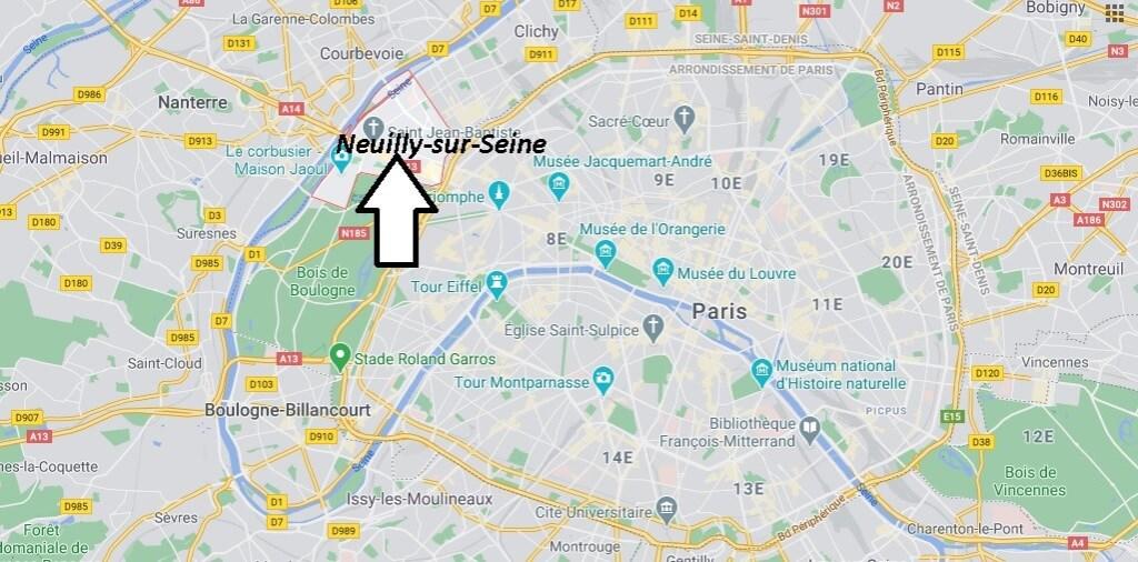 Où se situe Neuilly-sur-Seine (Code postal 92051)