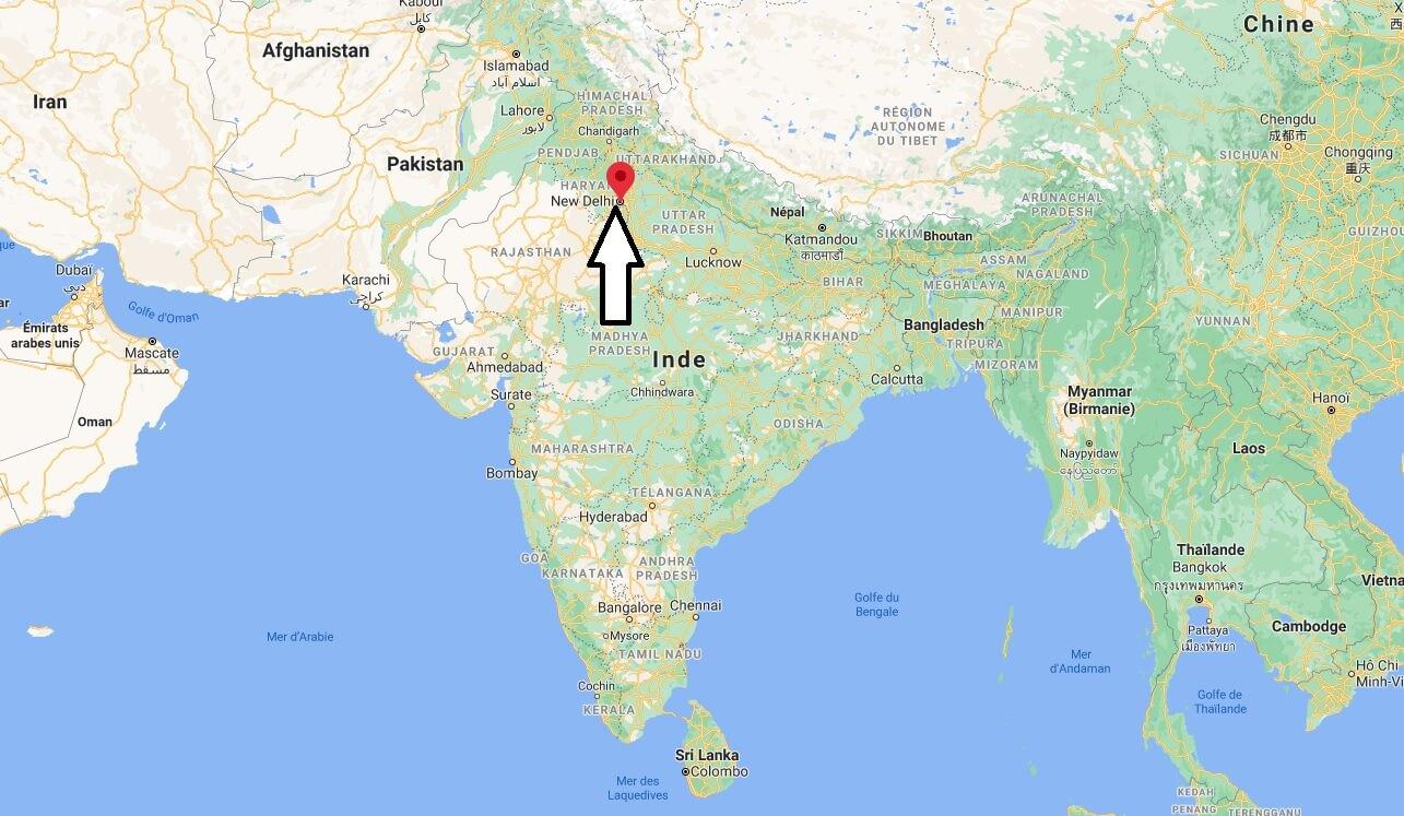 Où se situe New Delhi