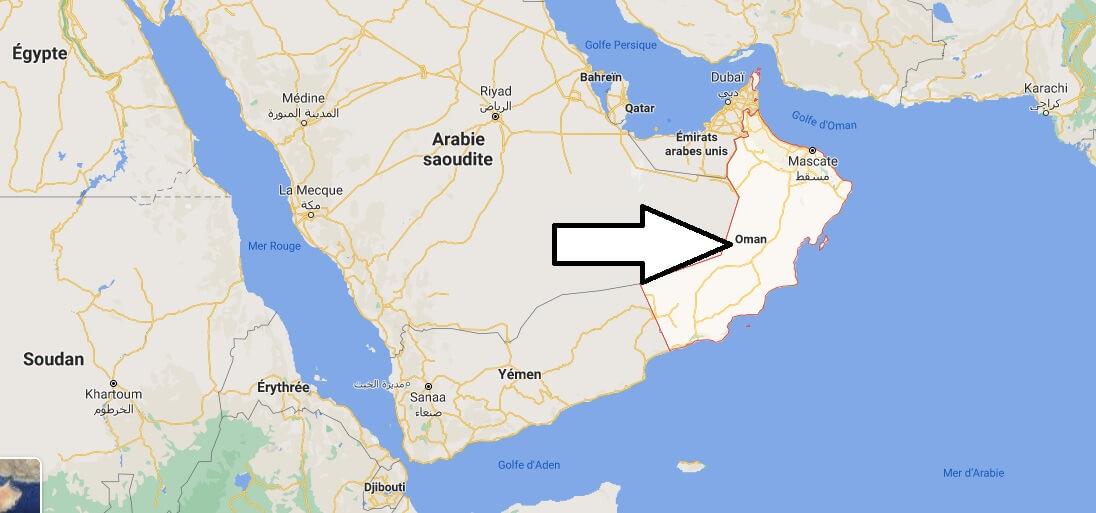 Où se situe Oman