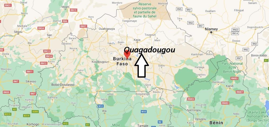 Où se situe Ouagadougou