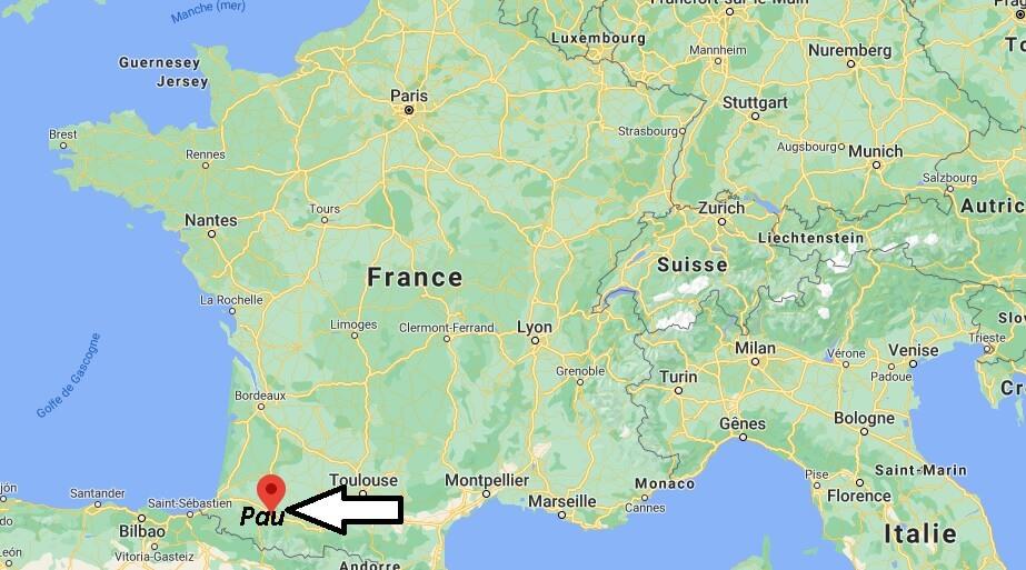 Où se situe Pau