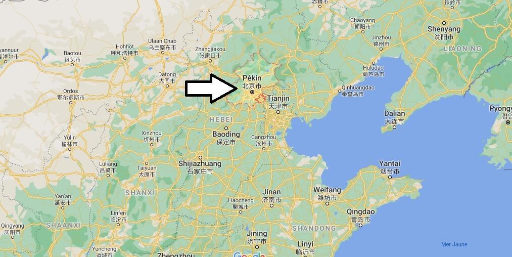 Où se situe Pékin