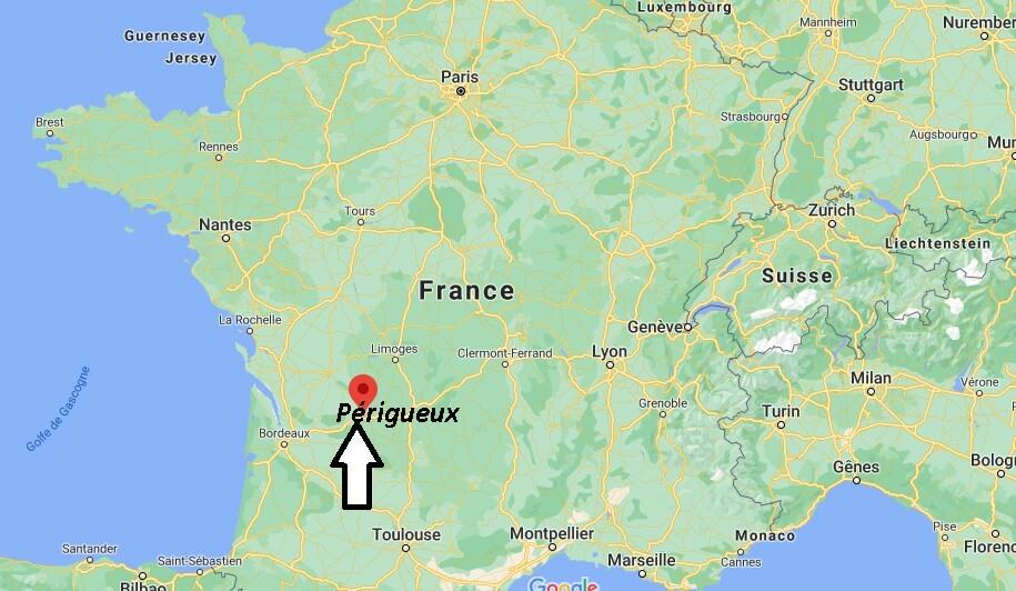 Où se situe Périgueux