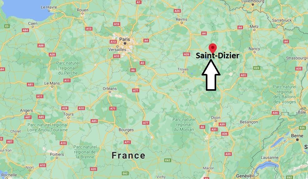 Où se situe Saint-Dizier (Code postal 52100)