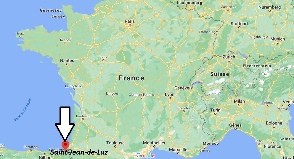 Où se situe Saint-Jean-de-Luz