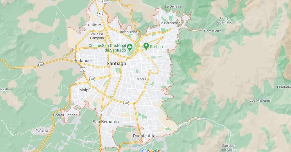 Où se situe Santiago
