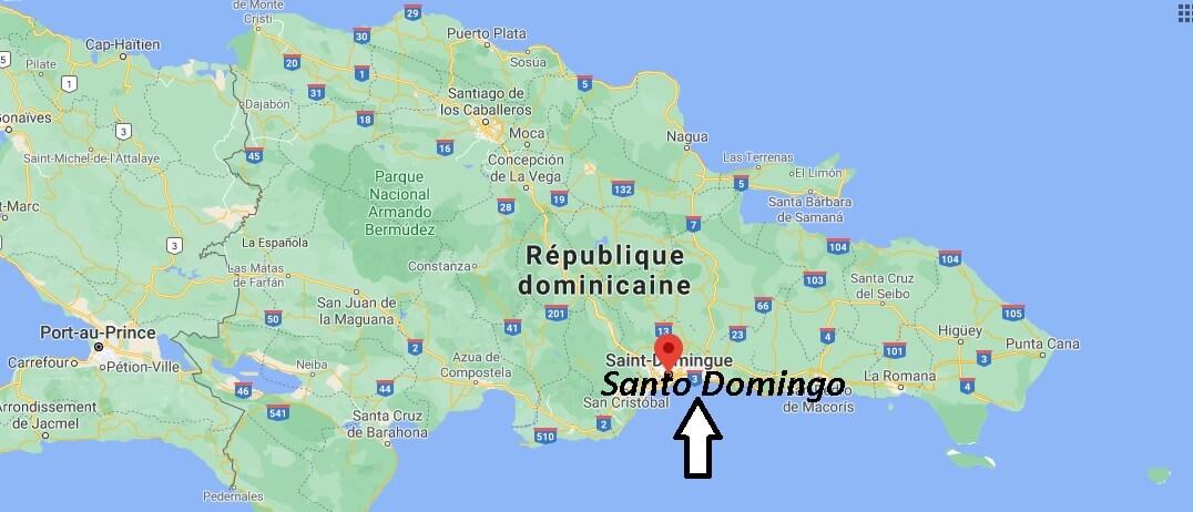 Où se situe Santo Domingo