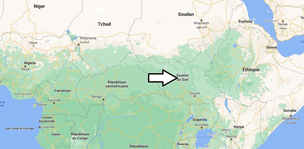 Où se situe Soudan du Sud