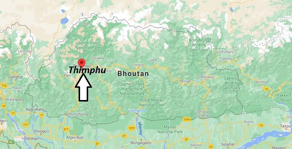 Où se situe Thimphu