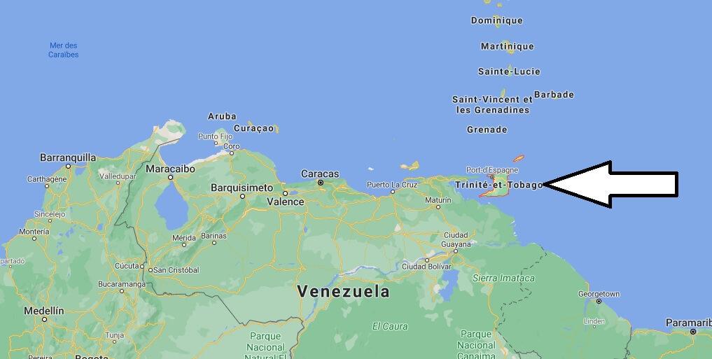 Où se situe Trinité-et-tobago