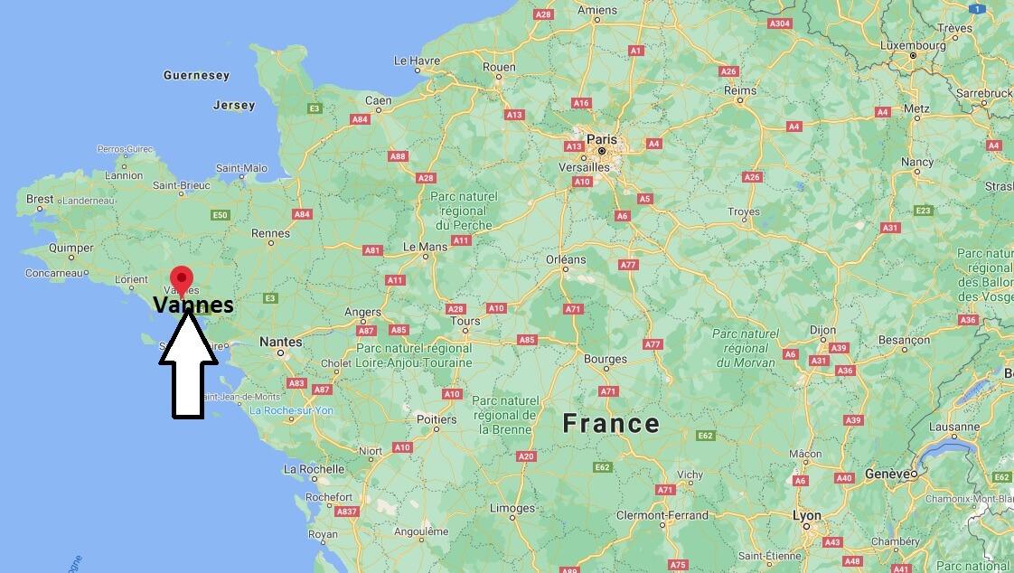 Où se situe Vannes