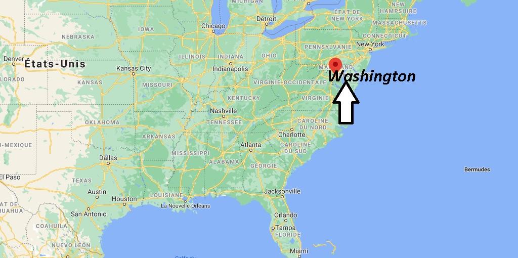 Où se situe Washington