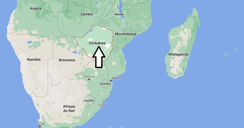 Où se situe Zimbabwe