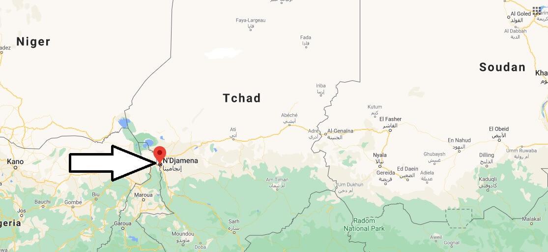 Où se situe de N-Djamena