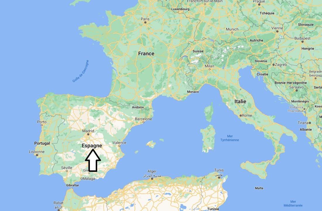 Où se situe l-Espagne