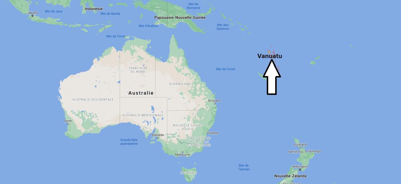 Où se situe l-île de Vanuatu