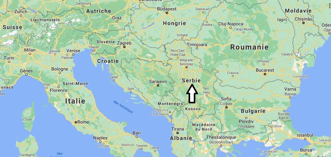 Où se situe la Serbie
