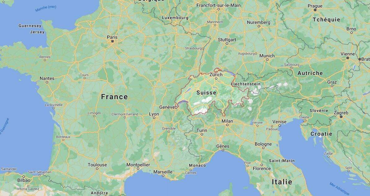 Où se situe la Suisse